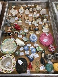 Irish Belleek Woven Dishes, Wedgwood Jasperware & numerous Hummel figurines