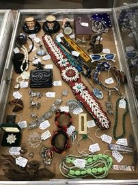 Jewelry, Spurs, Vintage Accessories & Royal Doulton pieces
