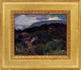 """2140  MARJORIE REY RICKARD (AMERICAN, 1883-1968), H 8"""", W 10"""", """"MENDOCINO, CALIFORNIA"""""""