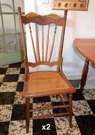 Oak Chairs (x2)