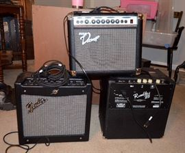 Amps - Fender, Pyle, Rumble