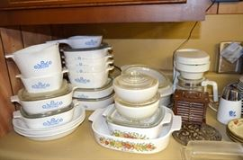 "Corning ""Corn Flower"" & ""Spice of Life"" casserole dishes"