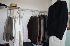 Mens clothing, we still have some to add back to the closets.  Beautiful suits and casual clothing too.