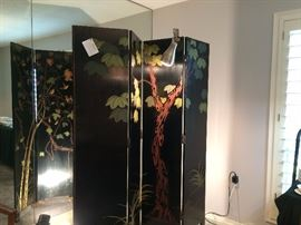 beautiful room divider screen hand painted