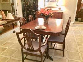 Duncan Phyfe diningroom table and matching chairs