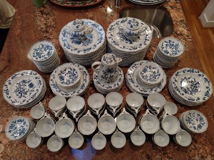 Yep, you're looking at a 176-piece set of Blue Danube china.
