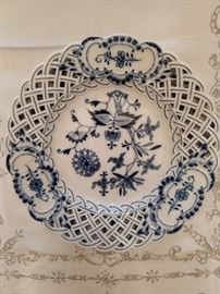 Reticulated Blue Danube porcelain server.