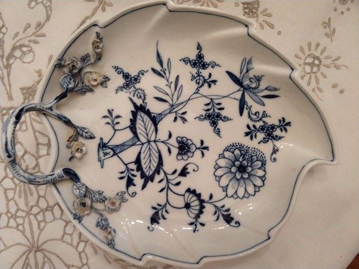 Meissen Blue Danube porcelain server.