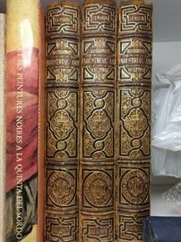 Several fabby leather-bound books.