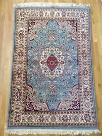 Not a good rug. There has to be a dud somewhere and this is it. It's a 1960's Persian rug, coarsely woven, with an ugly color story. The pic makes it appear much better.                                                                         What do you want me to say?