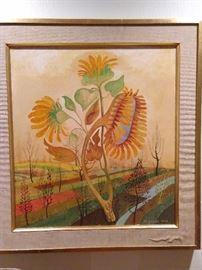 Original oil on canvas, by Martin Jonas, 1924-1996.