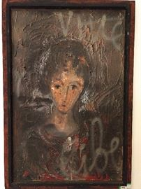 Original oil on canvas, by Zvi Milshtein, 1934-.