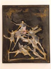 Original oil on canvas, by Alfred Aberdam, 1894-1963.