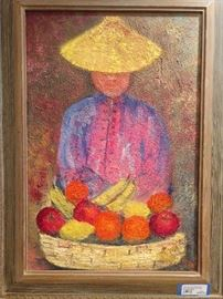 Original oil on canvas, by Zaza Milieu, 1892-?