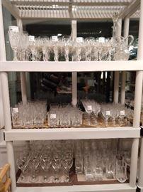 Ton's of stemware, barware.