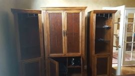 $150 for all 3 pieces   3 piece entertainment center