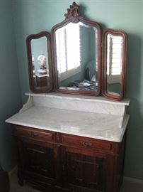 Victorian washstand Dresser Marble