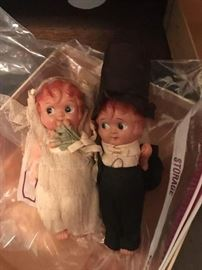 Celluloid Kewpie Doll 1920's wedding cake topper