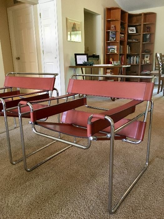 Pair 1980's Wassily Chairs