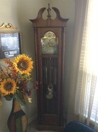Tempus Fugit German chiming floor clock.