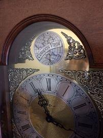 Tempus Fugit German chiming floor clock.