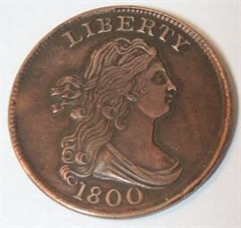 Important 1800 US Liberty Half Cent.