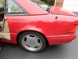 1997 MERCEDES BENZ SL 500 2 DOOR COUPE RED WITH CRÈME LEATHER INTERIOR  $9,000.00 ORIGINAL MILES 105,000  VIN #  WDBFA67F9VF148347 2 DOOR HARDTOP CONVERTIBLE HAS EXTRA SET OF TIRES WITH RIMS 2ND OWNER
