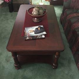 Bassett Coffee Table has storage drawers