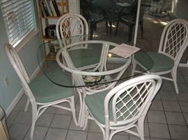 Cute Rattan kitchen table & chairs