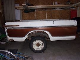Ford pick up bed trailer with hitch and spare tire