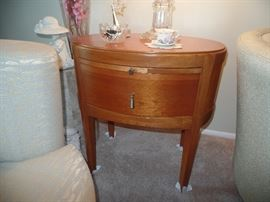 Beautiful,  oval matching end table
