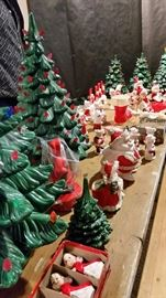 Ceramic Trees, Santa's, Elves and Angels