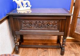 BUY IT NOW! Lot #103, Antique Carved Buffet / Sideboard with Drop-Down Door (Overall good condition with signs of use), $200