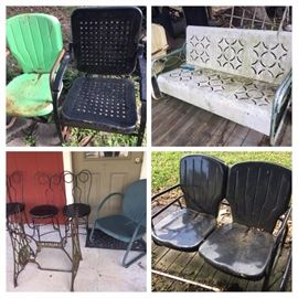 outdoor aluminum chairs--there's more than pictured