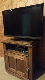 Flat screen TV $30 TV cabinet $80