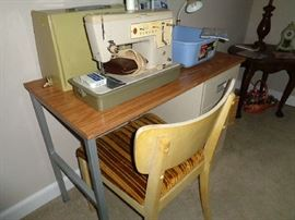 sewing desk/chair & sewing machine