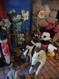 Vintage Horse with Cart..LARGE Mickey Mouse