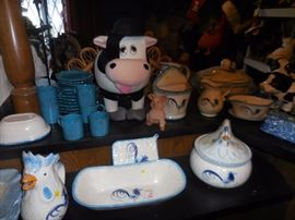 Barnyard..Kitchen..WE are ALL LOVIN the COWS.ROOSTERS, HENS,