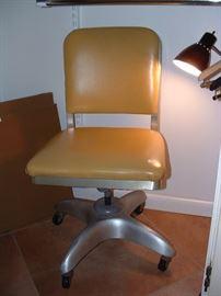 sleek mid century office chair