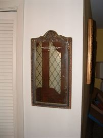 deco framed mirror