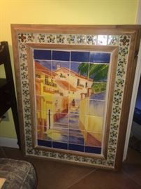 Mexican tile picture