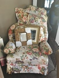 Comfy chintz chair