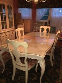 Whitewash dining room set