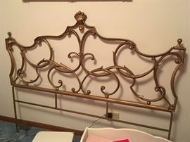 ornate full-sized headboard