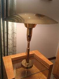 Pair of vintage brass atomic lamps MUST SEE!