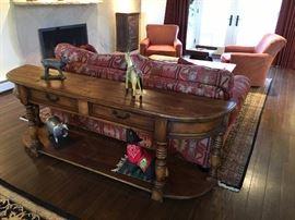 7' Sofa table