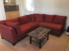 Burton James sectional and antique table