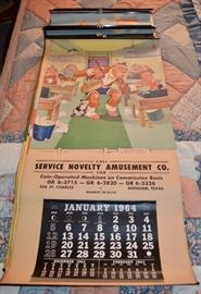 Lamson Woods chimpanzee calendars 50's-70's