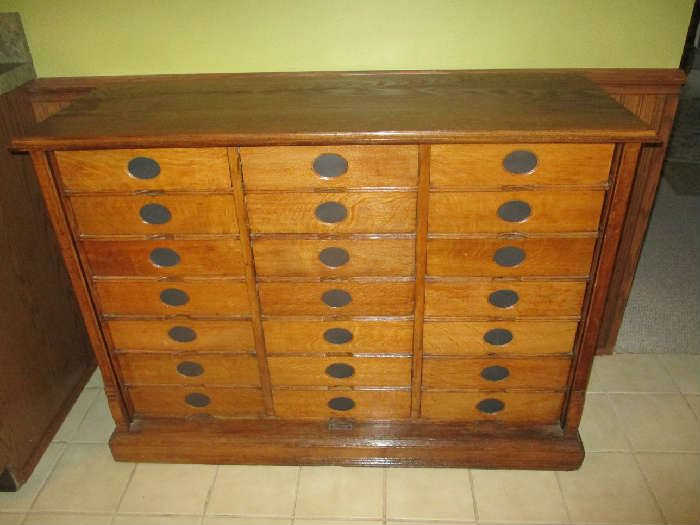 Amberg file an index card cabinet - Estate/Tag Sale Inside Private Home In Grand Rapids, MI Starts On