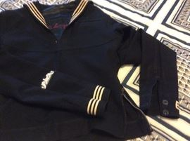 Vintage US Military Sailor Uniform Jumper Blue Dress Wool